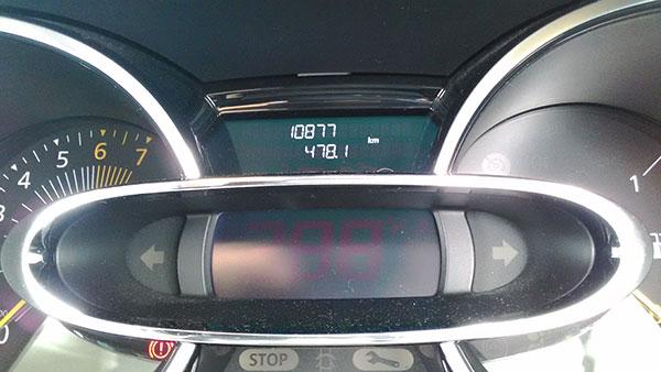 ルーテシア 2015年8月の燃費
