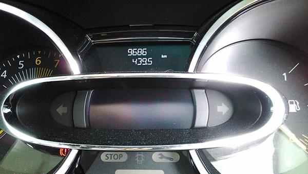 ルーテシア 2015年7月の燃費